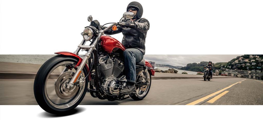Harley-Davidson 2 Biker auf Küstenstraße