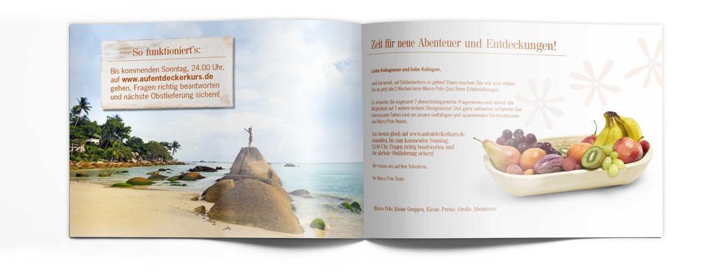 Werbekunde Marco Polo Reisen Broschüre