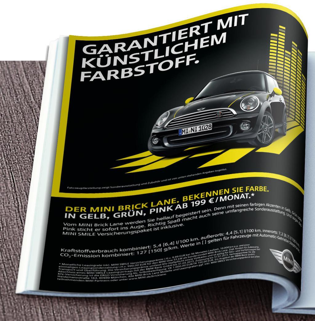 Werbekunde MINI Bricklane Werbekampagne Print Anzeige