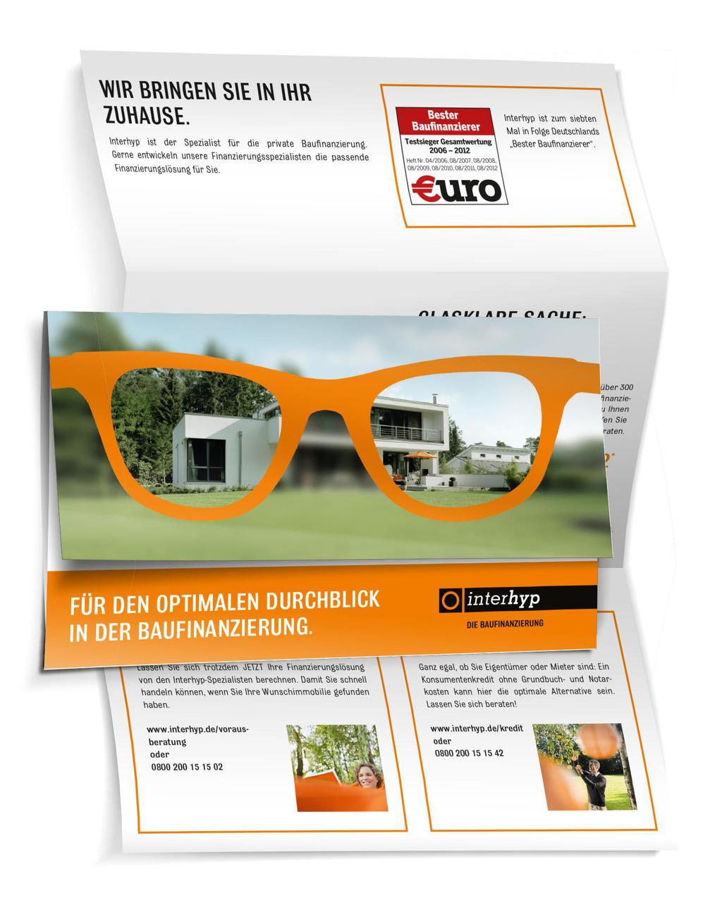 Werbekunde Interhyp Printsonder Mailing Brille
