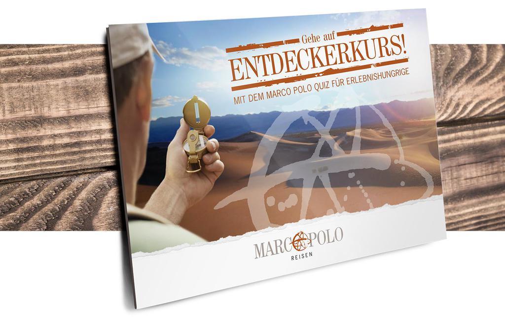 Werbekunde Marco Polo Reisen Broschüre (geschlossen)