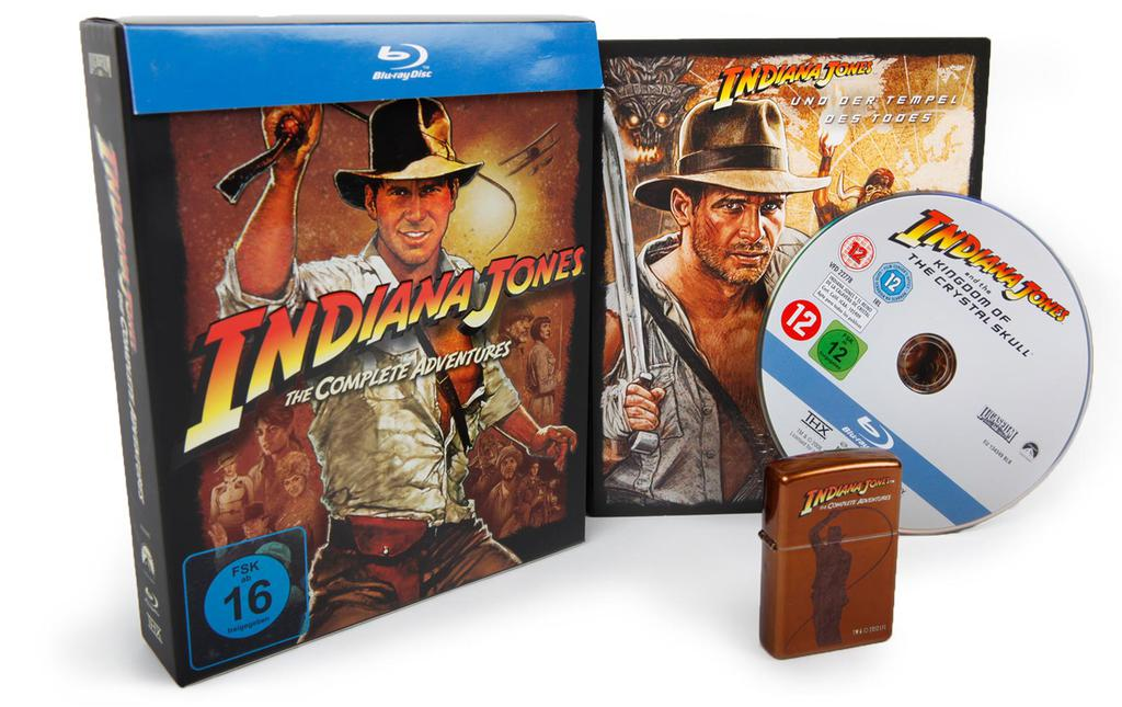 Werbekunde Paramount Packaging Indiana Jones Blueray + Zippo