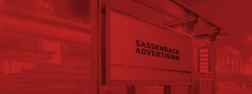 Bushaltestellen Werbeplakat Sassenbach Advertising